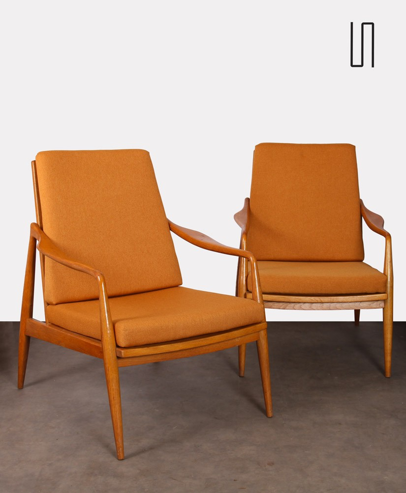 Pair of vintage armchairs, Czech fabrication, 1960s