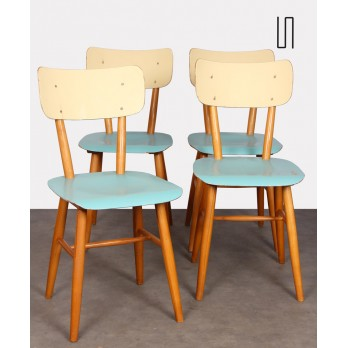 Suite of 4 chairs from Eastern Europe for Ton, 1960s
