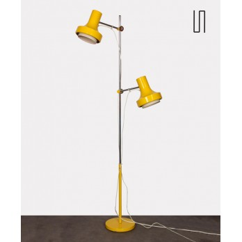 Yellow floor lamp by Josef Hurka for Napako, 1970s