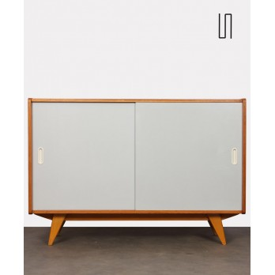 Chest with white doors, model U-452, by Jiri Jiroutek, 1960s