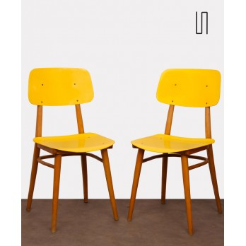Pair of vintage chairs produced by Ton, 1970s