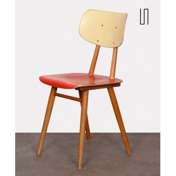 Vintage wooden chair for the manufacturer Ton, 1960s
