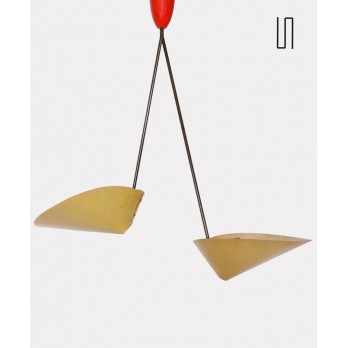 Vintage hanging lamp by Josef Hurka for Napako, 1960s