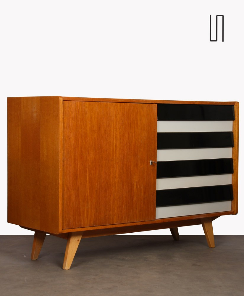 Vintage chest of drawers by Jiri Jiroutek, model U-458, circa 1960