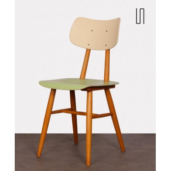 Vintage wooden chair for the publisher Ton, 1960s
