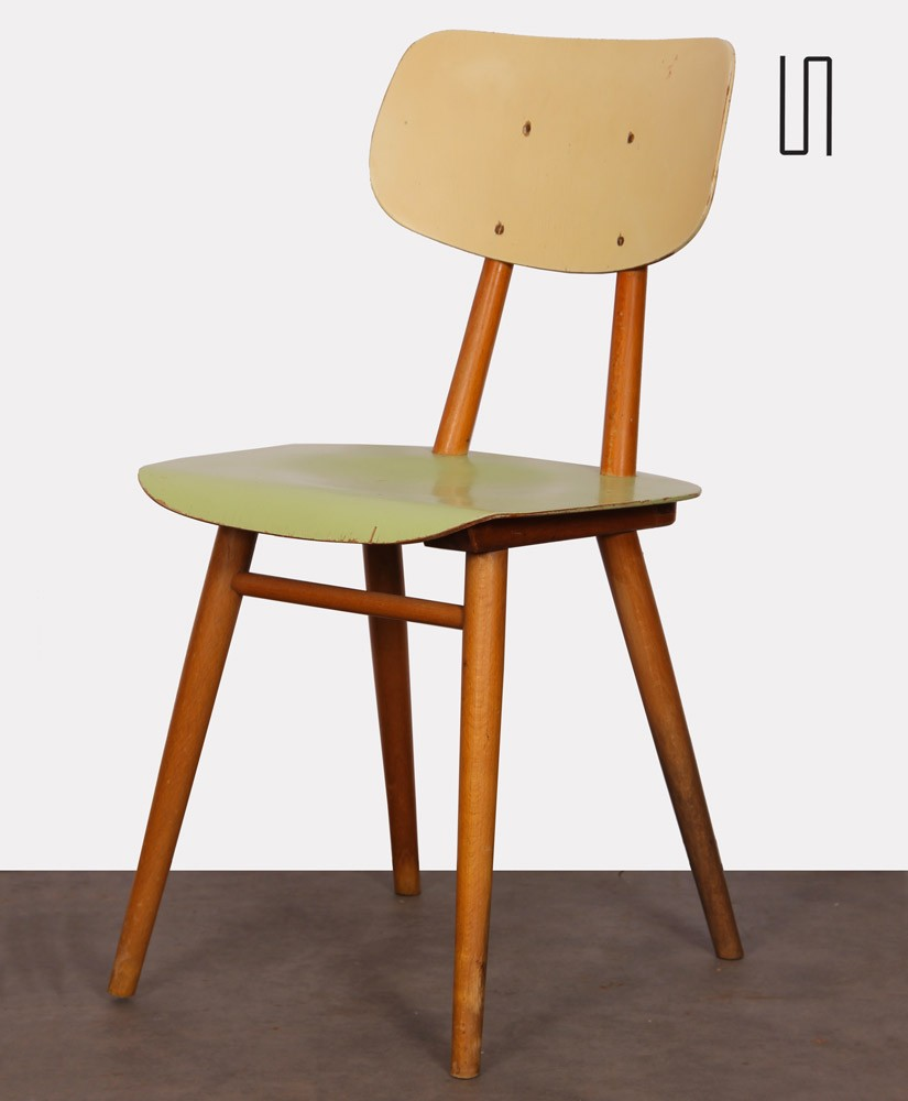 Vintage wooden chair edited by the Czech manufacturer Ton, 1960s