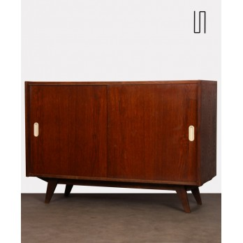 Oak chest, model U-452 by Jiri Jiroutek, 1960s