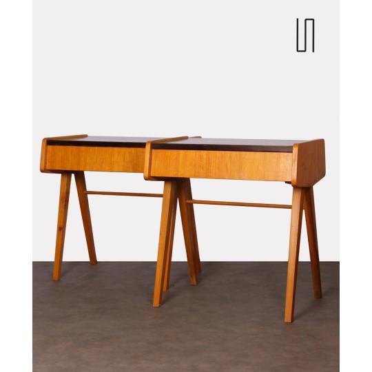 Pair of bedside tables attributed to Frantisek Jirak, 1970s