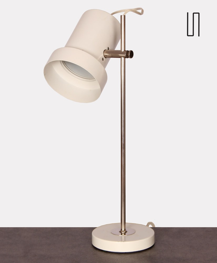 Vintage metal lamp produced by Aka circa 1960
