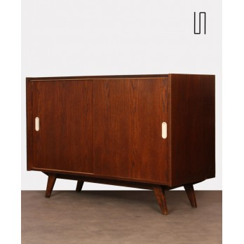 Vintage oak chest, model U-452 by Jiri Jiroutek, circa 1960