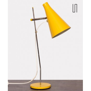 Yellow lamp by Josef Hurka for Lidokov, 1960s
