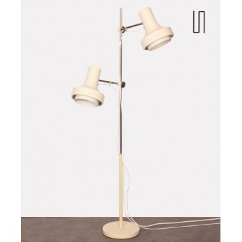 White metal floor lamp by Josef Hurka for Napako, 1970s