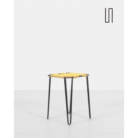 Metal Eastern Europe stool, soviet design