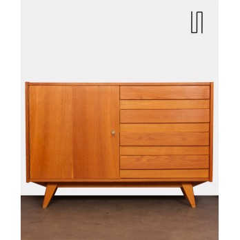 Vintage wooden chest with 4 drawers by Jiri Jiroutek, 1960s