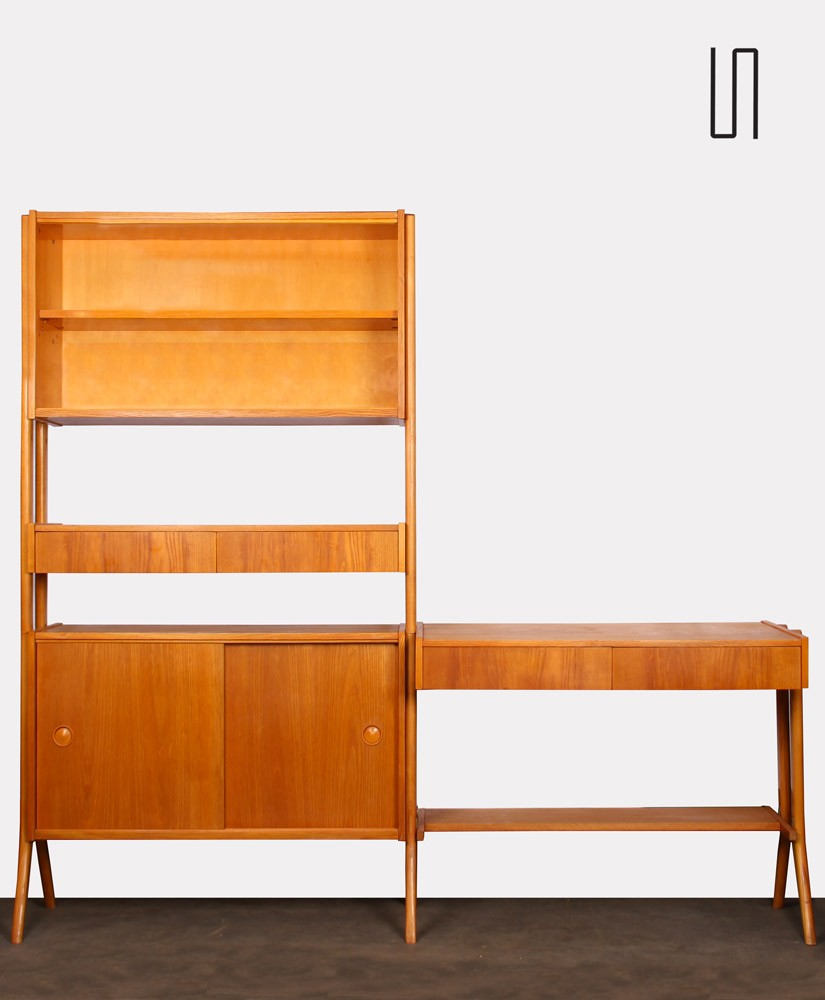 Vintage wooden wall unit by Frantisek Jirak, circa 1960