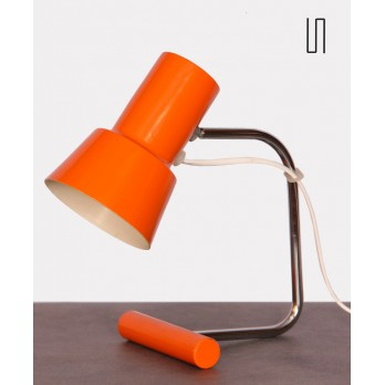 Small orange table lamp by Josef Hurka for Napako, 1970s
