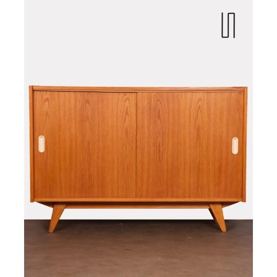 Oak chest with sliding doors by Jiri Jiroutek, 1960s