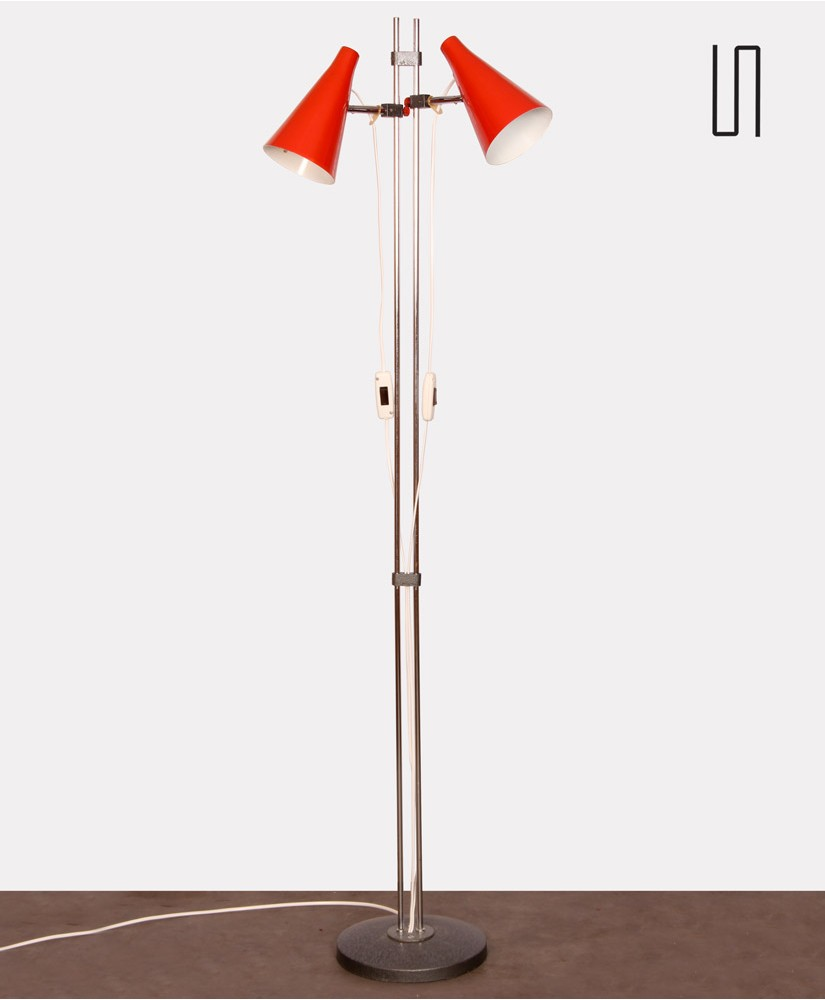 Vintage metal floor lamp by Josef Hurka for Lidokov, 1960s