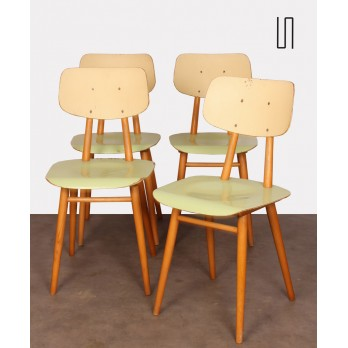 Set of 4 vintage chairs, edited by Ton, 1960s