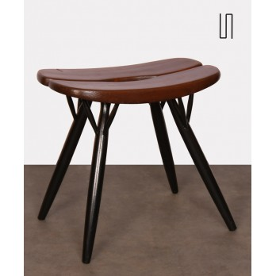 Vintage stool by Ilmari Tapiovaara, Pirkka model, 1950s