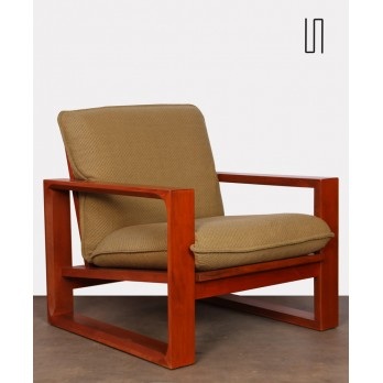 Vintage wooden armchair by Miroslav Navratil, model Daria, 1985