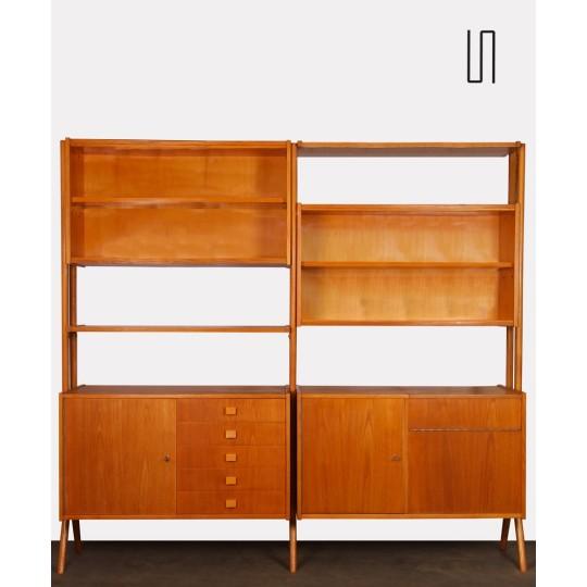 Wooden bookcase by Frantisek Jirak for Tatra Nabytok, 1960s