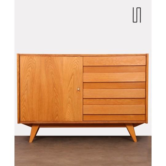 Vintage wooden chest of drawers, model U-458, by Jiri Jiroutek, 1960s