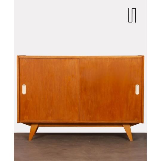 Oak chest, model U-452, by Jiri Jiroutek for Interier Praha, 1960s
