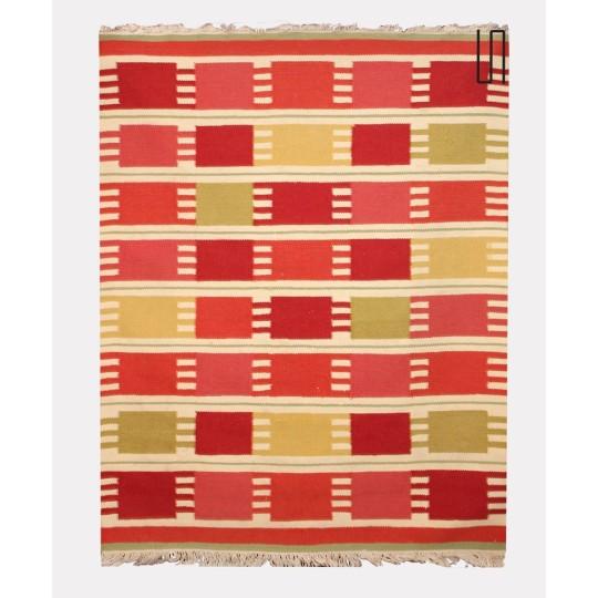 Vintage woolen rug, czech design, 1960s