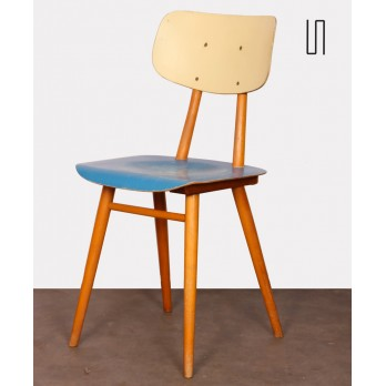 Vintage wooden chair by Czech manufacturer Ton, 1960s