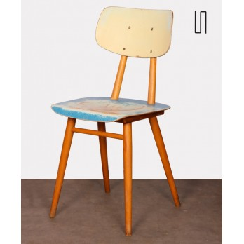Wooden chair edited by the Czech manufacturer Ton, circa 1960