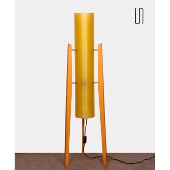 Fiberglass floor lamp produced by Novoplast, 1970s