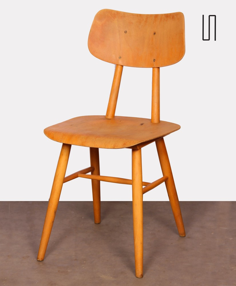 Vintage wooden chair produced by Ton circa 1960