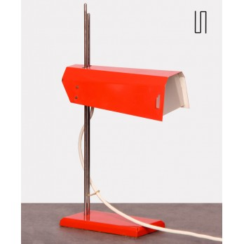 Red metal lamp designed by Josef Hurka for Lidikov, 1970s
