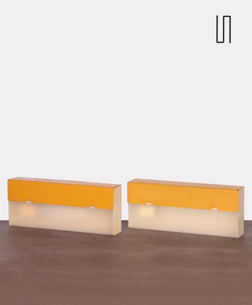 Pair of vintage wall sconces by Tesla, 1970s