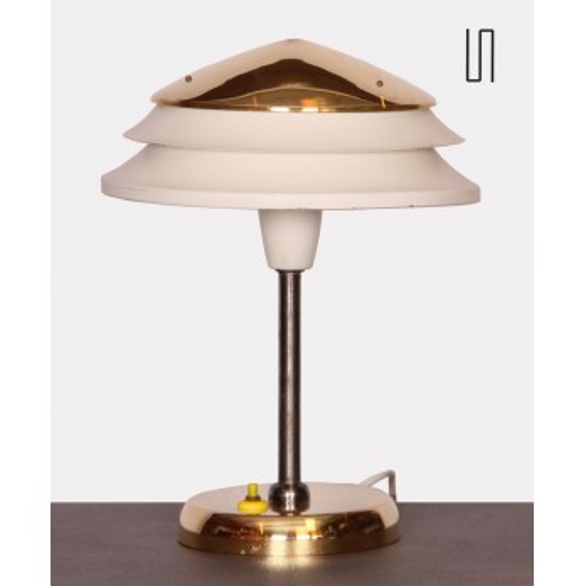 Lampe vintage en métal éditée par Zukov, 1950