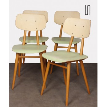 Set of 4 vintage chairs, edited by Ton, circa 1960
