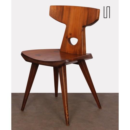 Chaise en pin par Jacob Kielland-Brandt pour I. Christiansen, 1960