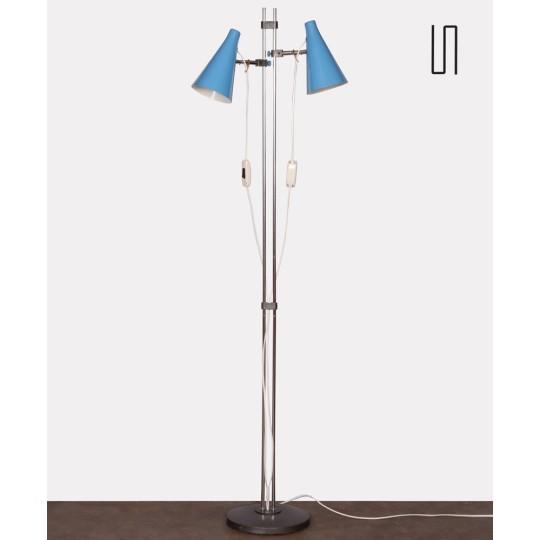 Blue floor lamp by Josef Hurka for Lidokov, 1960s