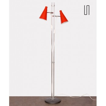 Red floor lamp by Josef Hurka for Lidokov, 1960s