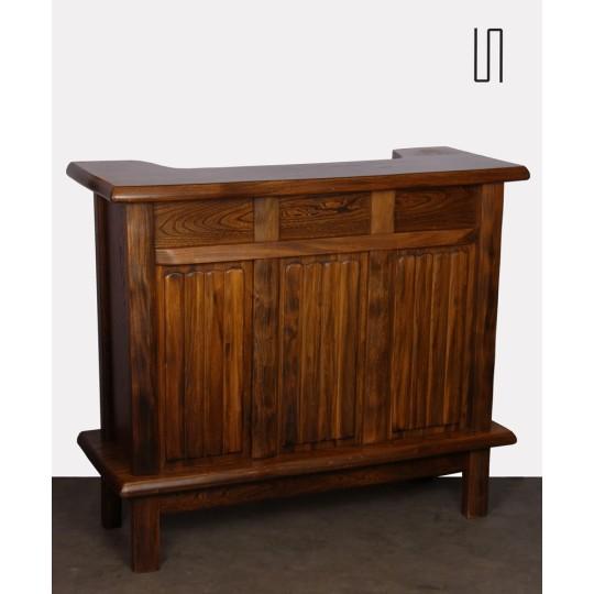Vintage solid elm bar by Olavi Hanninen, 1960s