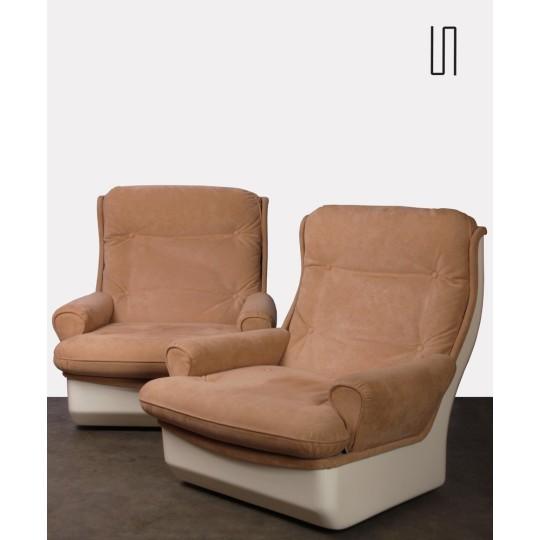 Paire de fauteuils Orchidée par Michel Cadestin pour Airborne, 1970