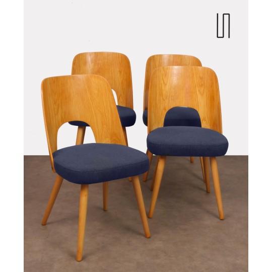 Suite de 4 chaises par Oswald Haerdlt pour Tatra Nabytok, 1950