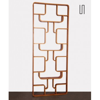 Vintage mahogany room divider by Ludvik Volak for Drevopodnik Holesov, 1960s