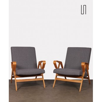 Pair of vintage armchairs edited by Tatra Nabytok, circa 1960