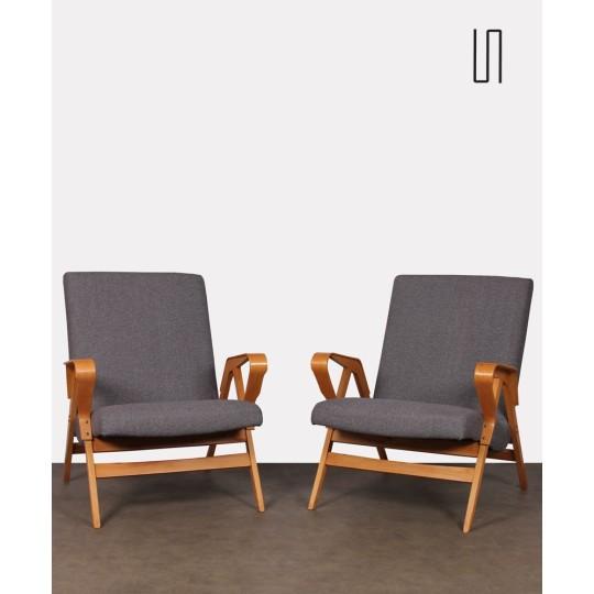 Paire de fauteuils vintage édités par Tatra Nabytok, 1960