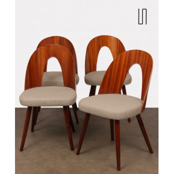 Series of 4 vintage chairs by Antonin Suman, 1960s
