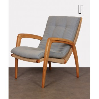 Ash armchair attributed to Jan Vanek for Krasna Jizba, 1940s