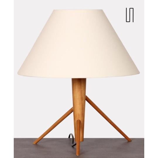 Lampe à poser en bois, fabrication tchèque datant des années 1960