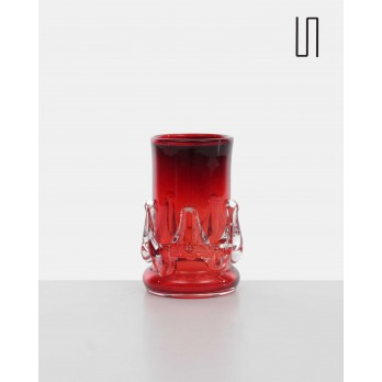 Vase rouge d'Europe de l'Est de Jerzy Słuczan - Orkusz, design soviétique